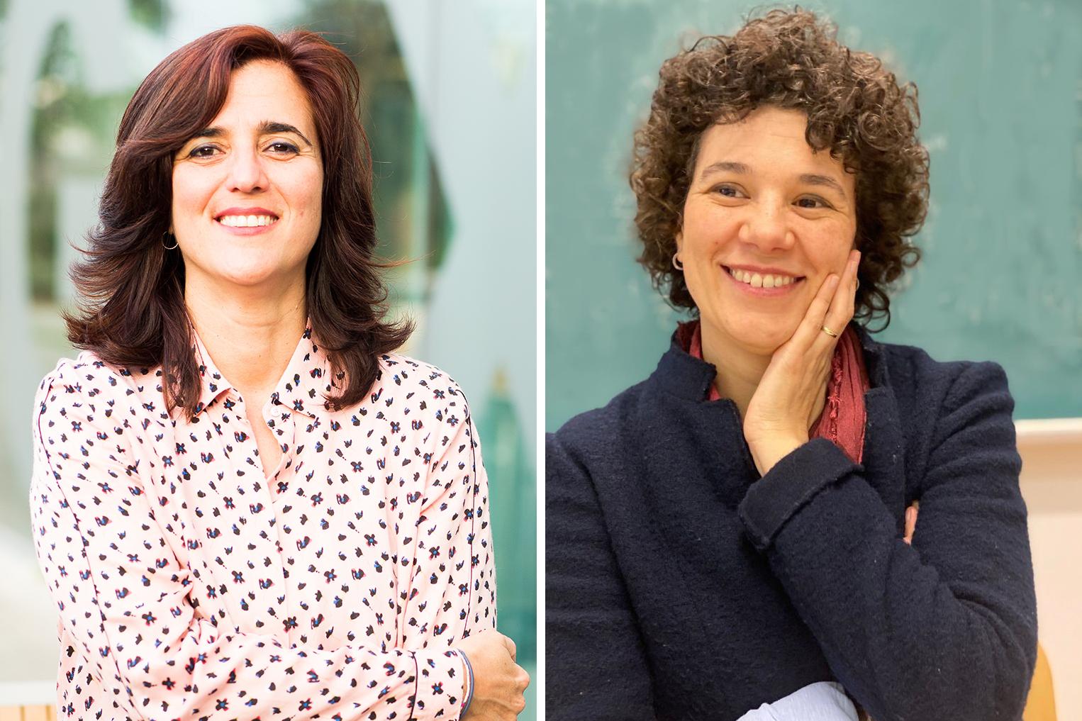 Ana I. Caño-Delgado, investigadora del CSIC en el CRAG (izquierda), y Marta Ibañes, investigadora de la UB (derecha), líderes del trabajo